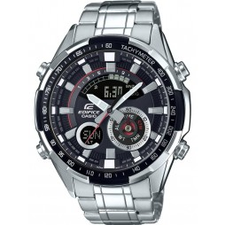 Casio Mens Edifice Steel Dual Display Watch ERA-600D-1AVUEF
