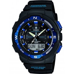 Casio Mens Sports Gear Dual Display Rubber Watch SGW-500H-2BVER
