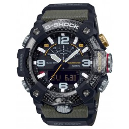 Casio G-Shock Master Of G Mudmaster Carbon Core Guard Dual Display Green Plastic Strap Smartwatch GG-B100-1A3ER
