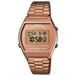 Casio CASIO Collection Retro Digital Rose Gold Plated Bracelet Watch B640WC-5AEF