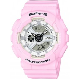 Casio G-Shock Baby-G Dual Display Pink Plastic Strap Watch BA-110BE-4AER