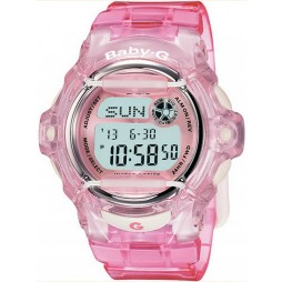 Casio Ladies Baby-G Telememo Pink Plastic Watch BG-169R-4ER