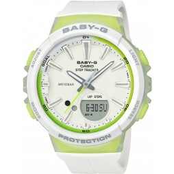 Casio G-Shock Baby-G Dual Display Green Plastic Strap Watch BGS-100-7A2ER