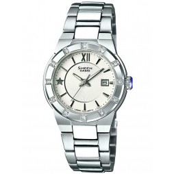 Casio Sheen Round White Dial Watch SHE-4500D-7AER