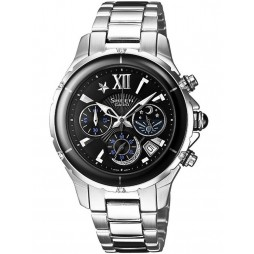Casio Sheen Chronograph Round Black Dial with Date Watch SHE-5512D-1ADF