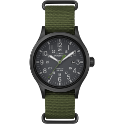 Timex Mens Expedition Green Strap Watch TW4B04700