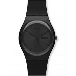 Swatch Mens Black Rebel Watch SUOB702