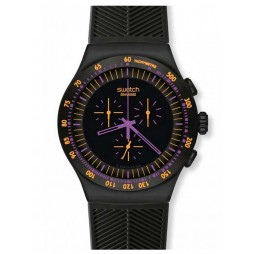 Swatch Unisex Purple In Dark Watch YOB102