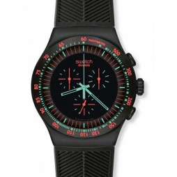 Swatch Mens Mint In Dark Watch YOB105