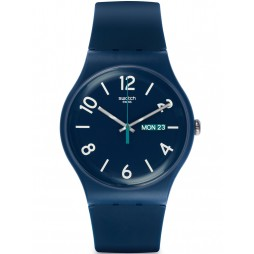 Swatch Unisex Backup Blue Strap Watch SUOB705
