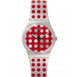 Swatch Unisex Red Flush Strap Watch GE240