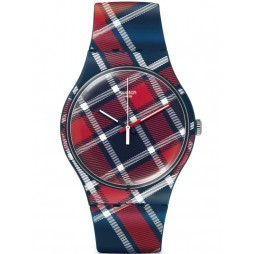 Swatch Unisex Colour Kilt Strap Watch SUON109
