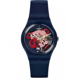 Swatch Men's Porticciolo Blue Watch GN239