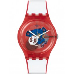 Swatch Unisex Clownfish Red Watch SUOR102
