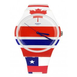 Swatch Unisex Flagtime Multicoloured Watch SUOW111