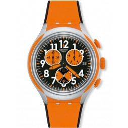 Swatch Feel Strong Orange Watch YYS4003
