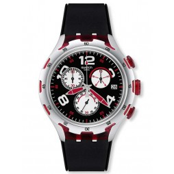 Swatch Men's Red Wheel Chronograph Watch YYS4004