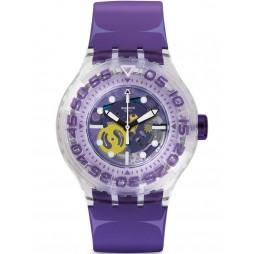 Swatch Unisex Berry-Tini Divers Strap Watch SUUK106