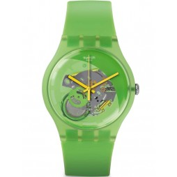 Swatch Mens Pomme-Tech Green Strap Watch SUOG110
