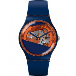 Swatch Mens Myrtil-Tech Blue Strap Watch SUOO102
