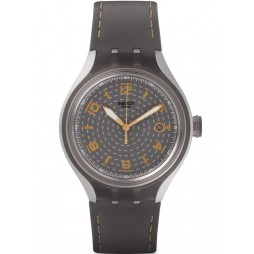 Swatch Mens Go Smokey Grey Strap Watch YES4007