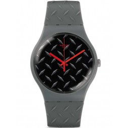 Swatch Mens Text-Ure Grey Strap Watch SUOM102