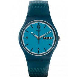 Swatch Mens Blue Bottle Strap Watch GN719