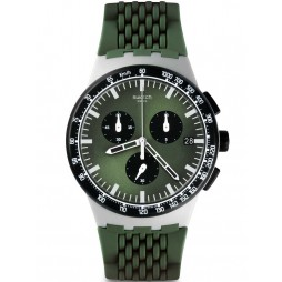 Swatch Mens Sperulino Green Chronograph Strap Watch SUSM402