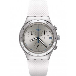 Swatch Unisex Travel Chic White Strap Watch YCS584