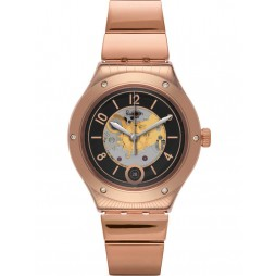 Swatch Mens Tonton Phil Rose Gold Plated Bracelet Watch YAG400G