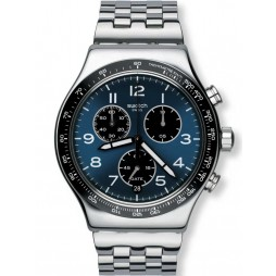 Swatch Mens Boxengasse Chronograph Bracelet Watch YVS423G