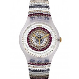 Swatch Unisex Tricotime Watch SUOK114