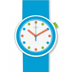 Swatch Poppingpop Light Blue Strap Watch PNW102