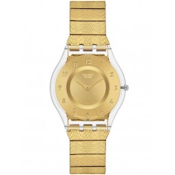Swatch Generosity Gold Strap Watch SFK355M