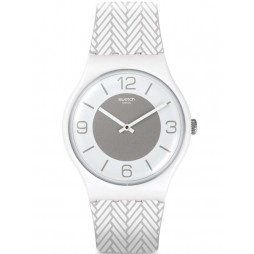 Swatch White Glove Strap Watch SUOW131