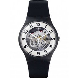 Swatch Skeletor Black Strap Watch SUOB134