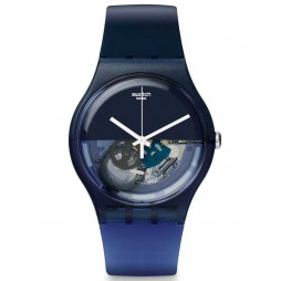 Swatch Blue Depth Strap Watch SUON105