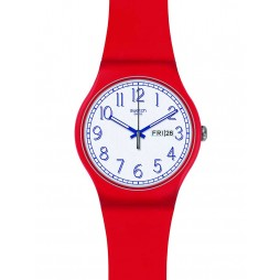 Swatch Mens Red Me Up Strap Watch SUOR707