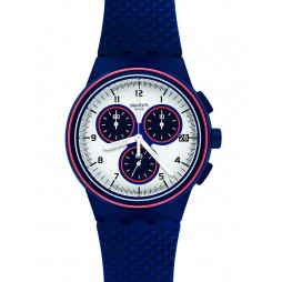 Swatch Mens Parabordo Blue Chronograph Strap Watch SUSN412