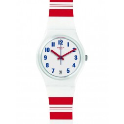 Swatch Mens Rosalinie White Strap Watch GW407