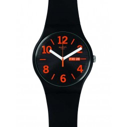 Swatch Mens Orangio Black Strap Watch SUOB723