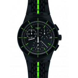 Swatch Mens Laser Track Black Strap Watch SUSB409