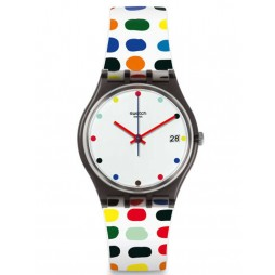 Swatch Milkolor Strap Watch GM417