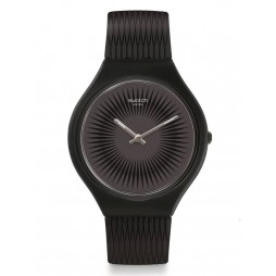 Swatch Skinnella Black Rubber Strap Watch SVOB104