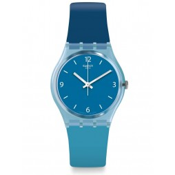 Swatch Fraicheur Light and Dark Blue Rubber Strap Watch GS161
