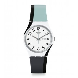 Swatch Unisex Greytwist Grey Rubber Strap Watch GW711