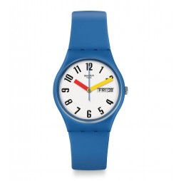 Swatch Unisex SoBleu Blue Rubber Strap Watch GS703
