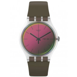 Swatch Unisex Polarmy Khaki Rubber Strap Watch SUOK714