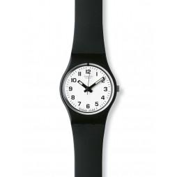 Swatch Ladies Black Rubber Strap Watch LB153