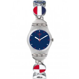 Swatch Ladies Marinette Multicoloured Watch LK344G